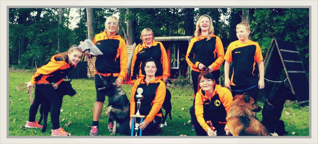 Unser Team mit Lara, Geli, Annett, Jana, Josi, Sandra, Ronny und Max.